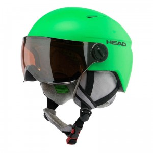 KASK HEAD SQUIRE GREEN JR XS/S 50/54 Z SZYBĄ